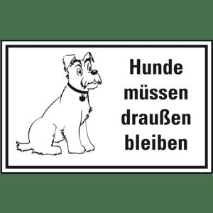 Hinweisschild Hunde Müssen Draußen Bleiben Folie 300 X 200mm