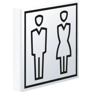 WC-Beschilderung Mann Nylon selbstklebend wei/ß H/öhe: 150 mm 1 St/ück