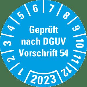 18//Bogen Ø 30mm hellblau Prüfplakette Geprüft nach DGUV 112-198//199 16-19