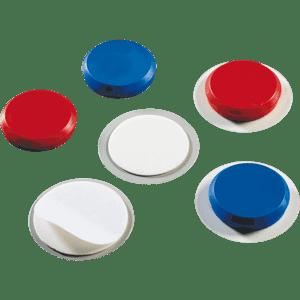 Magnet-Pads, rot, aus, Blech Ø 50mm, Magnete Ø 40mm, 10/VE ...
