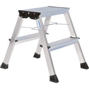 mit Roll-Stop-Automatik Krause 130037 Klapptritt 2 x 2 Stufen Aluminium