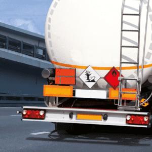 Placards 300x300mm Kl.2.1 Entzündbare Gase Folie seewasserb Gefahrgutzettel