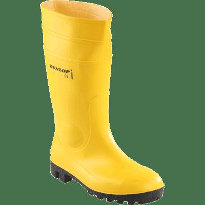 EN ISO 20345 S5 SRA DUNLOP Sicherheitsstiefel Protomaster gelb Gr 45