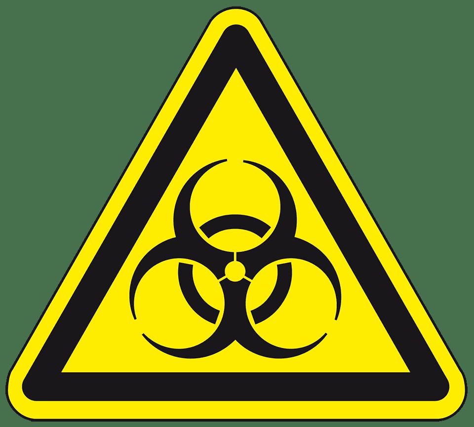 "Virus Warnaufkleber /""Warnung vor Biogefährdung/"""