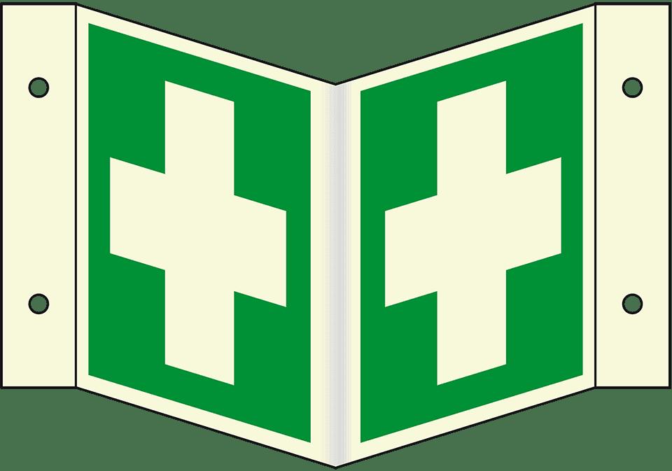 PERMALIGHT plus Rettungszeichen Arzt ASR//ISO Kunststoff 200x200mm