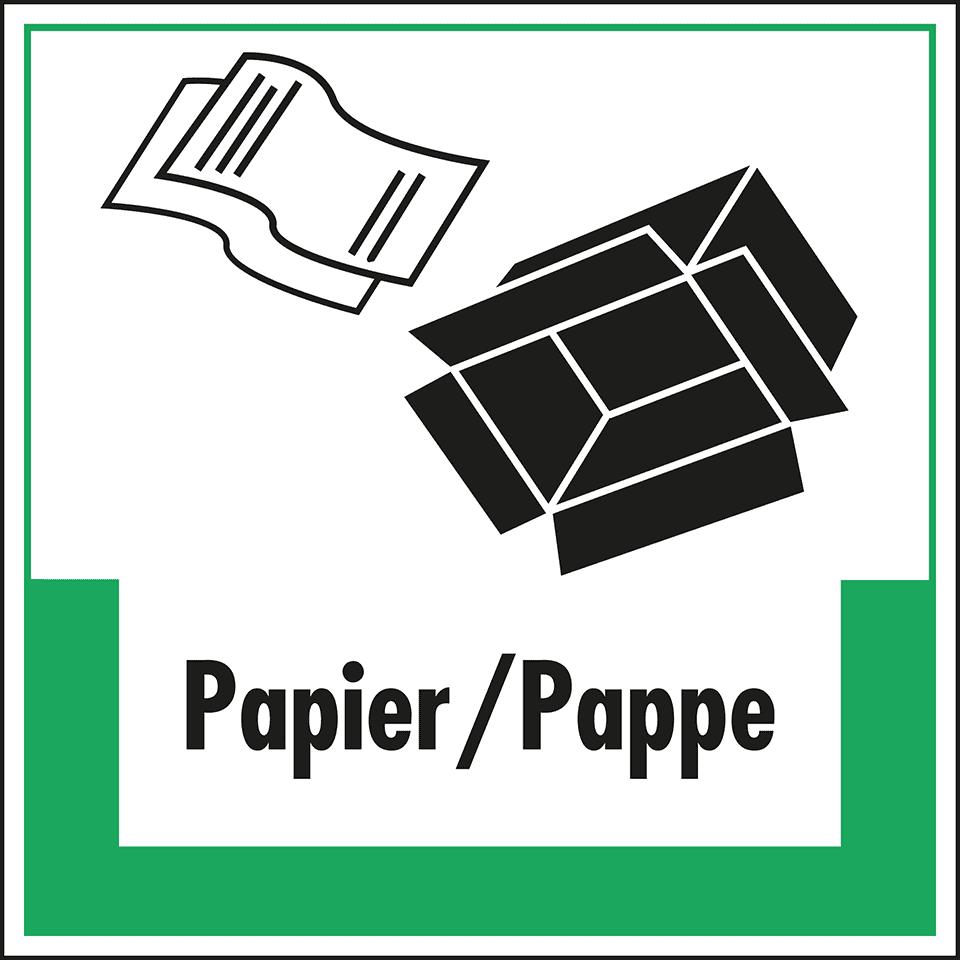 Abfallkennzeichen Papier/Pappe | kroschke.com