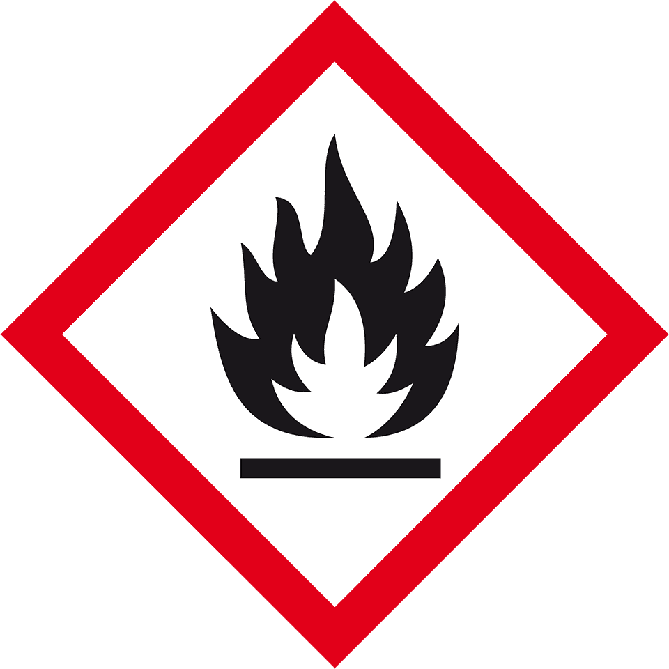 Gefahrensymbol Flamme GHS02, Folie, selbstklebend, 18x18mm, 8/Bogen |  kroschke.com