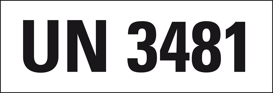 Gefahrgutaufkleber Un Nummer 3481 Nen Batterien147x50mm250rolle Kroschkecom