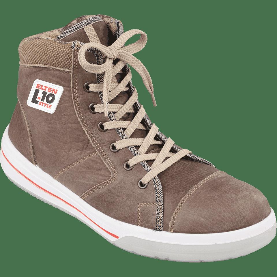 ELTEN ESD Stiefel L10, braun, Leder, Weite 12, Größe 45  