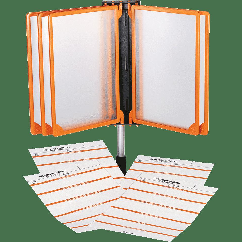 klapprahmen m wandhalterung orange kunststoff a4. Black Bedroom Furniture Sets. Home Design Ideas