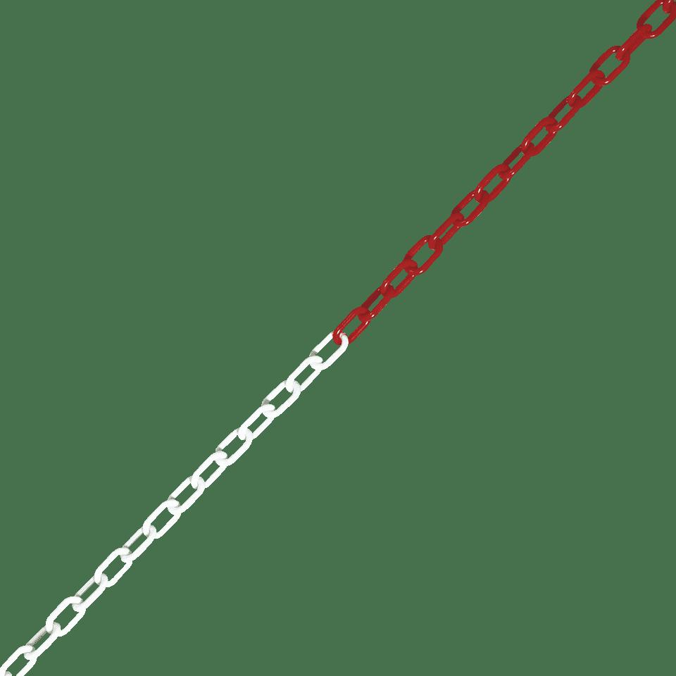 Absperrkette rot//wei/ß 6mm Kunststoff Polyethylen HEAVYTOOL/® 5 St/ück a 30 Meter = 150 Meter