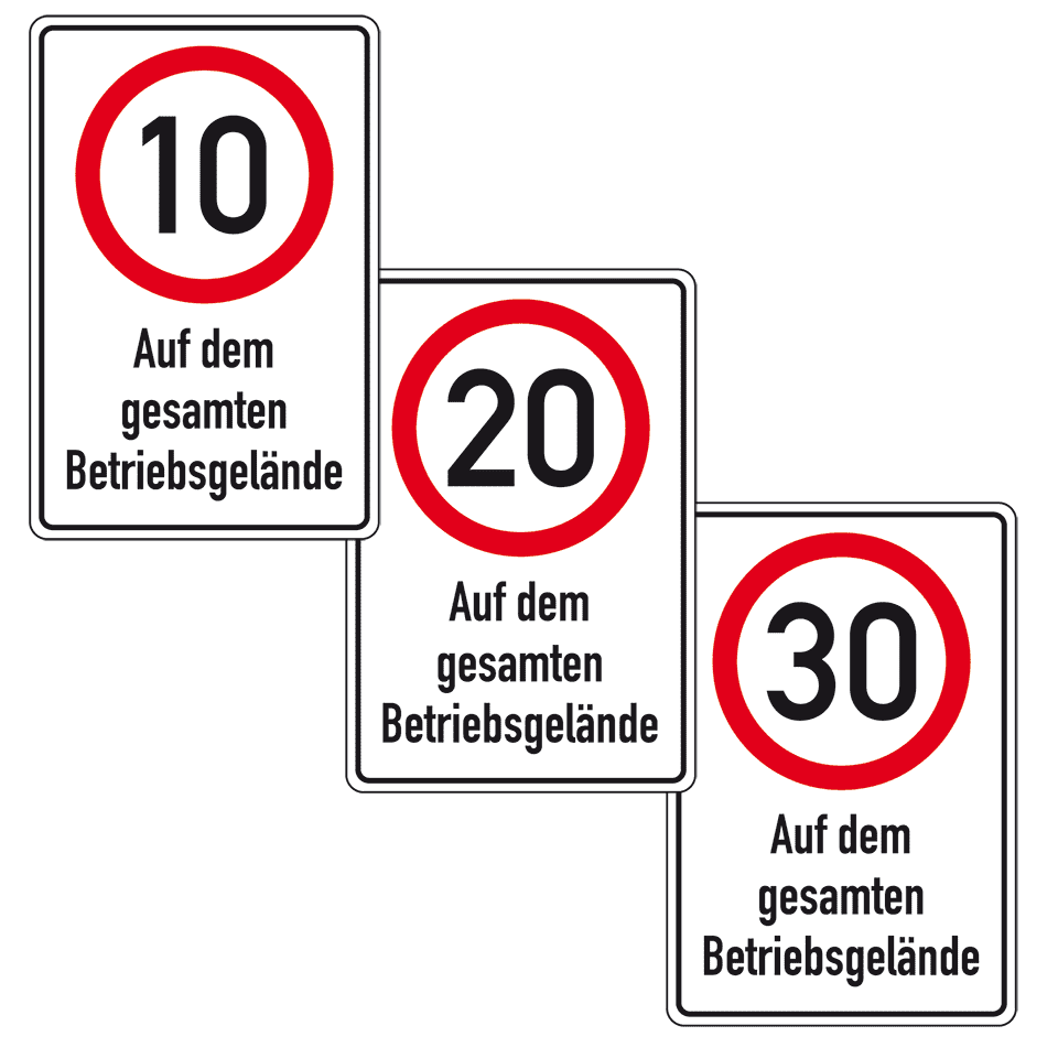 schild 10 kmh auf dem gesamten betriebsgel nde. Black Bedroom Furniture Sets. Home Design Ideas