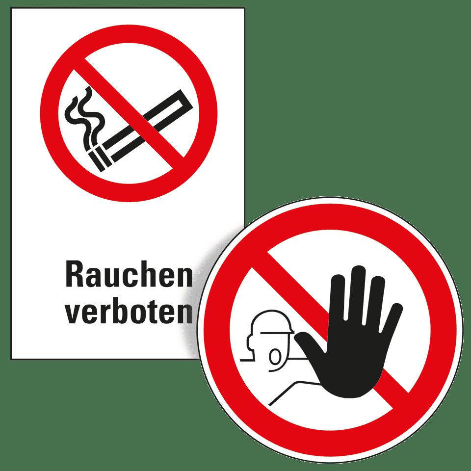 """3 STÜCK WARNETIKETTEN /""""BITTE NICHT RAUCHEN/"""" WARNAUFKLEBER QUADRAT SELBSTKLEBEND"""
